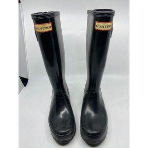 Hunter Women's Black Boots Size 6